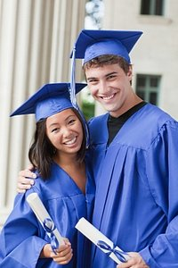 two graduates for poem graduation