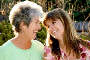 mother and daughter gazing fondly at each other for poems of mother