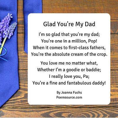 Father Poems To Show Dad He's the Man!