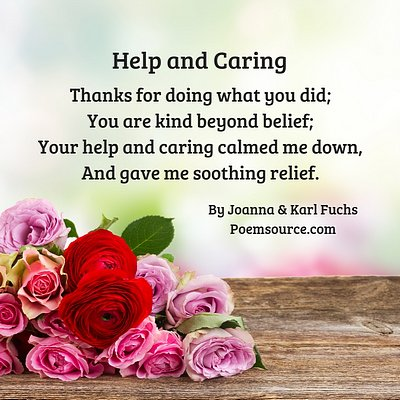 Help and Caring thank you poem