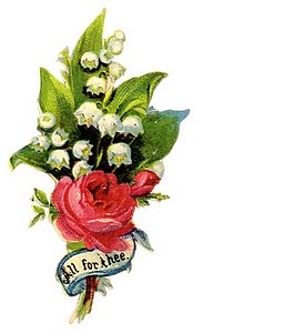 Christian message all for thee lily of the valley and rose bouquet