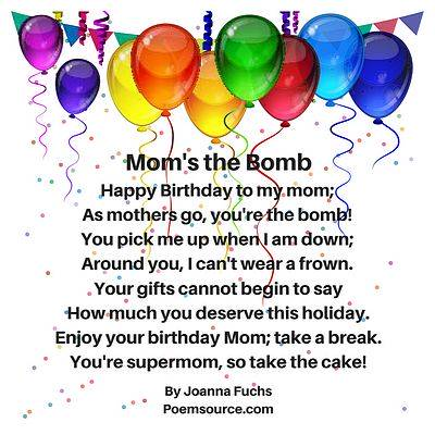 Wondrous Mother Birthday Poems For Her Special Day Personalised Birthday Cards Veneteletsinfo